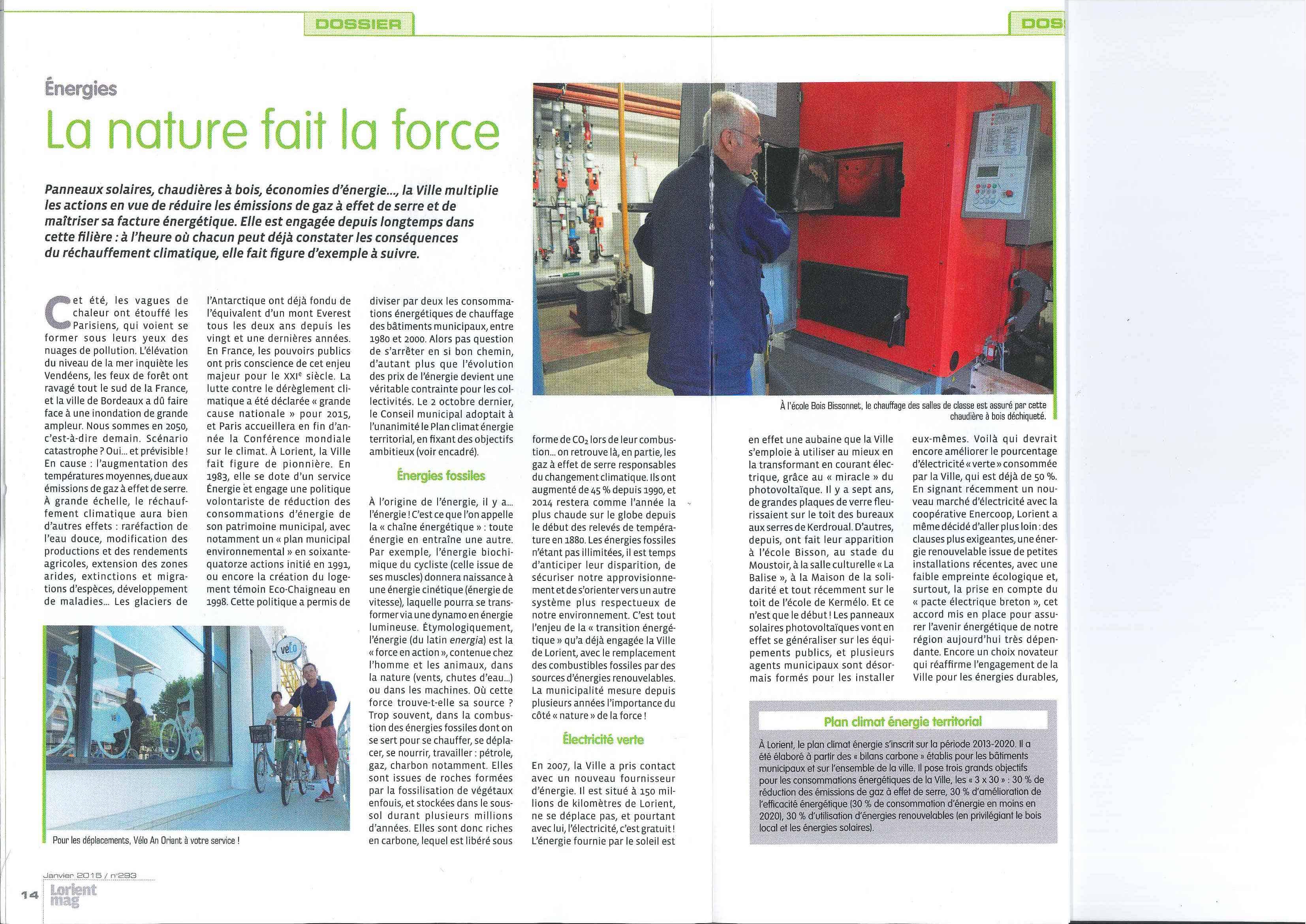 Parution Lorient Mag - Janvier 2015