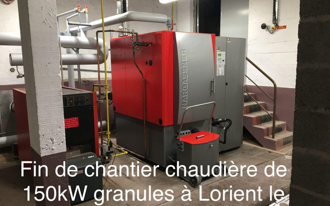 Chaudière 150kW pellets en remplacement du fioul à Lorient